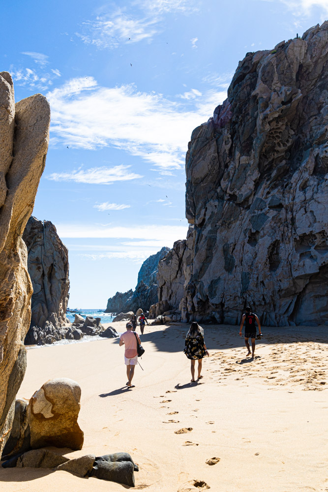 People walking on the beach in Los Cabos